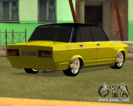 VAZ 2105 Golden Brodyaga Tuned for GTA San Andreas back left view