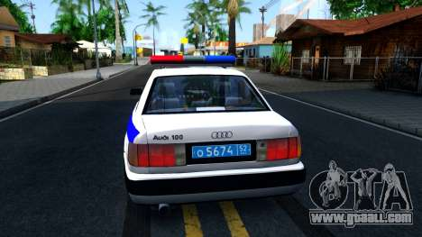 Audi 100 C4 Russian Police for GTA San Andreas back left view