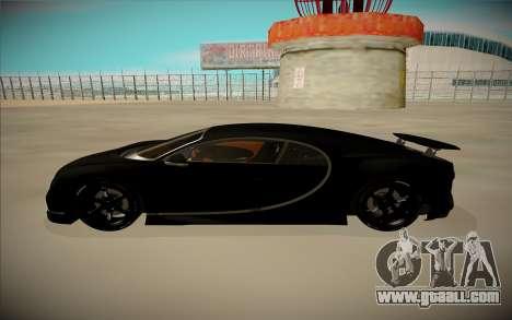 Bugatti Chiron for GTA San Andreas left view