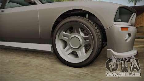 EFLC TBoGT Bravado Buffalo Supercharged for GTA San Andreas back view