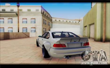 BMW M3 Е46 CSL for GTA San Andreas back view