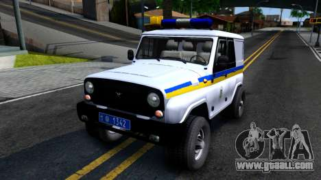 UAZ Hunter Police of Ukraine for GTA San Andreas