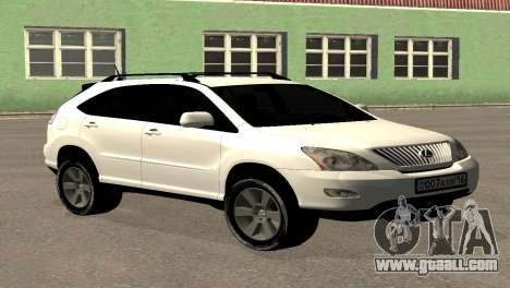 Lexus RX300 for GTA San Andreas back left view