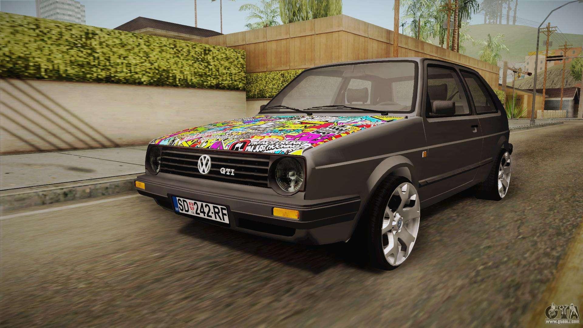 volkswagen golf mk2 for gta san andreas. Black Bedroom Furniture Sets. Home Design Ideas