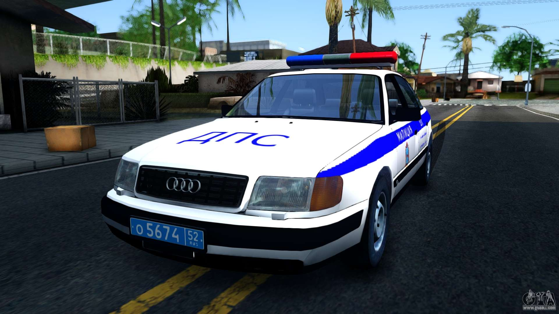 audi 100 c4 russian police for gta san andreas. Black Bedroom Furniture Sets. Home Design Ideas