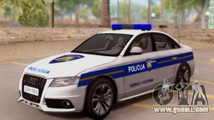 Audi S4 Croatian Police Car for GTA San Andreas