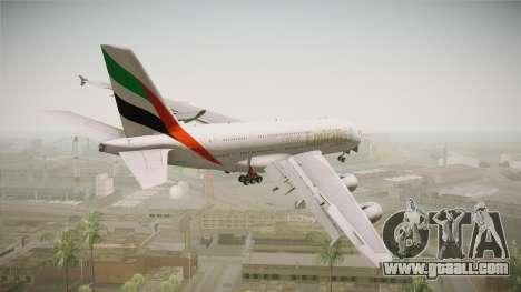 Airbus A380 Emirates Expo 2020 Dubai for GTA San Andreas left view