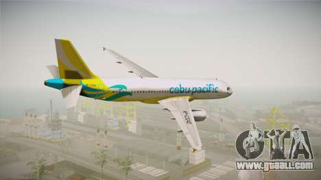 Airbus A320-214 - RP-C3242 (NC) Cebu Pacific for GTA San Andreas left view