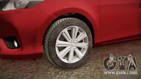Toyota Yaris 2016 for GTA San Andreas back view