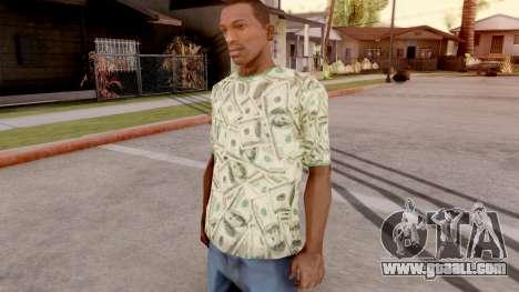 T-Shirt Dollar Style for GTA San Andreas