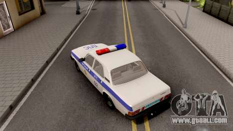 GAZ-31029 DPS Police for GTA San Andreas back view