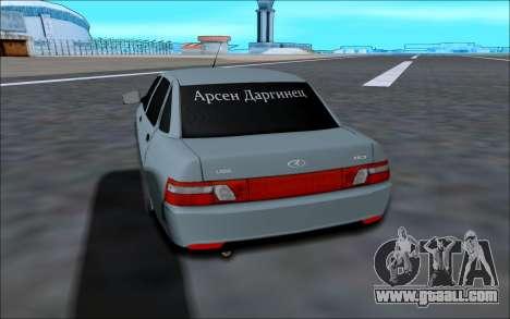 Lada 2110 for GTA San Andreas right view