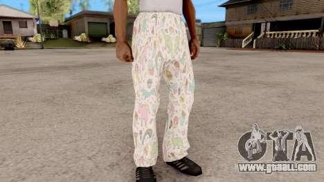 Pants pajama for GTA San Andreas second screenshot