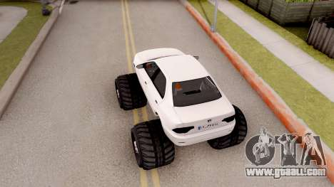 IKCO Samand Soren Monster for GTA San Andreas back view