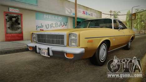 Plymouth Fury Salon (RL41) 1978 HQLM for GTA San Andreas back left view