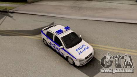 Opel Astra G Bulgarian Police for GTA San Andreas right view