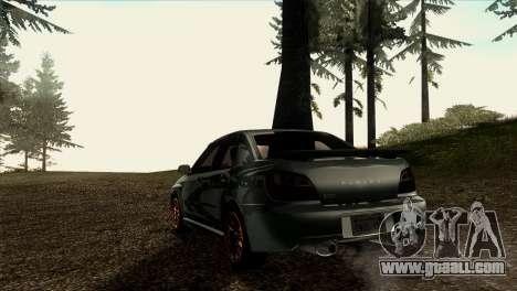 2001 Subaru Impreza WRX v 1.1 IVF [Tunable] for GTA San Andreas back view