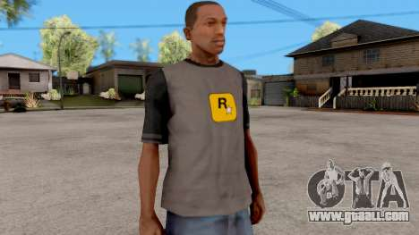 Rockstar T-Shirt for GTA San Andreas second screenshot