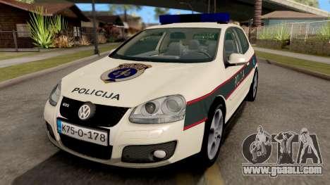 Volkswagen Golf V - BIH Police Car for GTA San Andreas