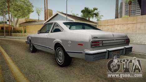 Plymouth Volare Coupe 1977 for GTA San Andreas back left view
