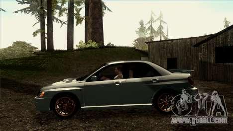 2001 Subaru Impreza WRX v 1.1 IVF [Tunable] for GTA San Andreas back left view