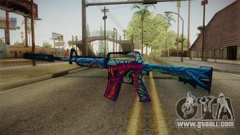 CS:GO - M4A1-S Hyper Beast for GTA San Andreas third screenshot