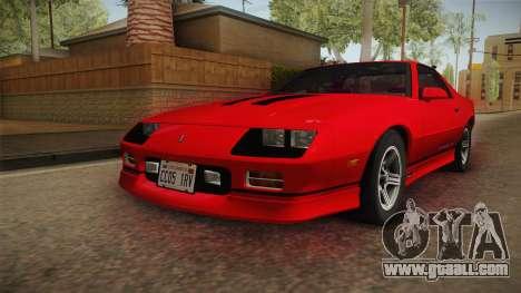 Chevrolet Camaro IROC-Z 1990 1.1.0 HQLM for GTA San Andreas