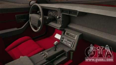 Chevrolet Camaro IROC-Z 1990 1.1.0 HQLM for GTA San Andreas inner view