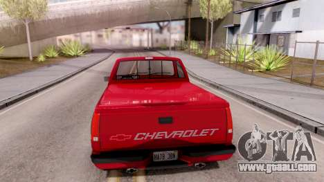 Chevrolet 454 SS C1500 1990 for GTA San Andreas back left view