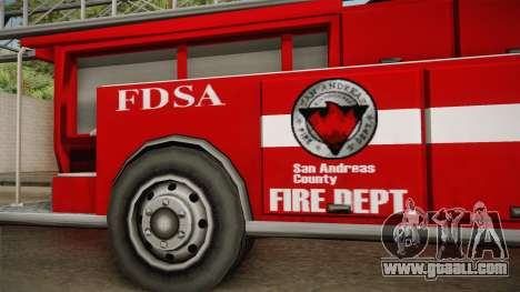 Packer Fire LA for GTA San Andreas back view