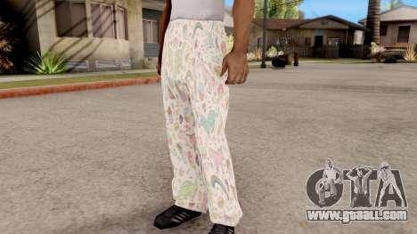 Pants pajama for GTA San Andreas