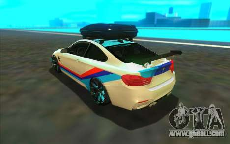 BMW M4 R for GTA San Andreas back left view