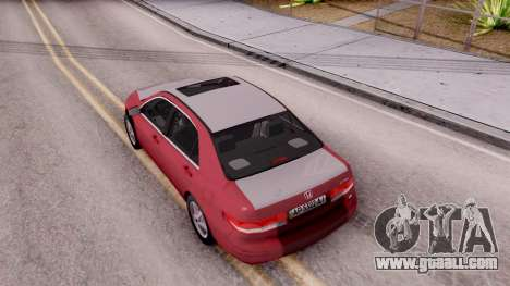 Honda Accord 2004 for GTA San Andreas back view