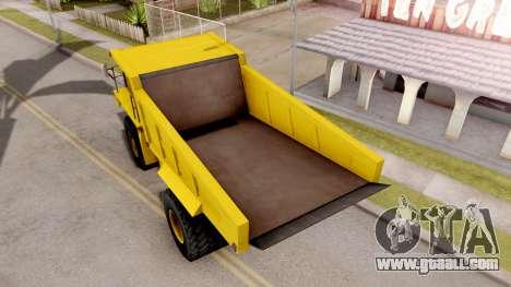 Realistic Dumper Truck for GTA San Andreas back view