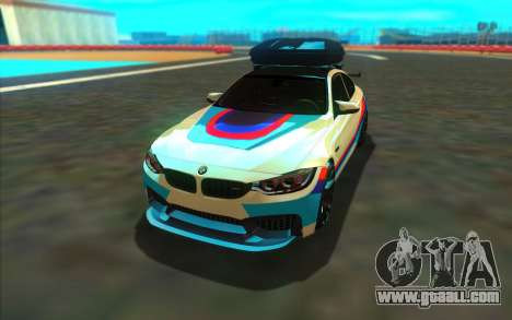 BMW M4 R for GTA San Andreas back view