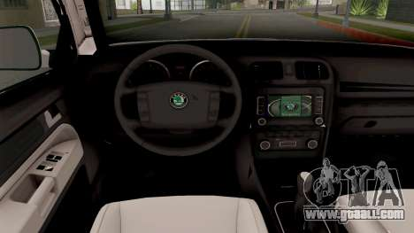 Skoda Octavia Scout Croatian Police Car for GTA San Andreas inner view