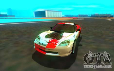 Chevrolet Corvette ZR1 for GTA San Andreas back view
