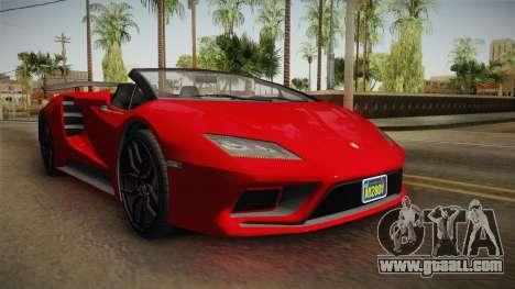 GTA 5 Pegassi Tempesta Spyder for GTA San Andreas right view