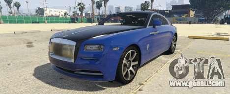 Rolls-Royce Wraith 1.1 for GTA 5