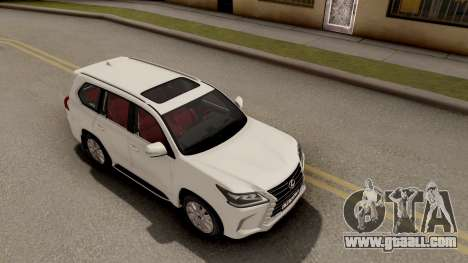 Lexus LX 570 2016 for GTA San Andreas right view