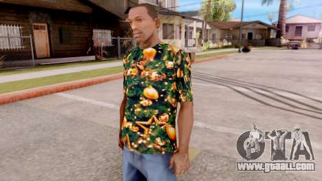 Christmas t-shirt for GTA San Andreas