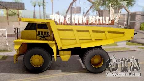 Realistic Dumper Truck for GTA San Andreas left view