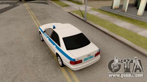 Audi A8 Russian Police for GTA San Andreas back view