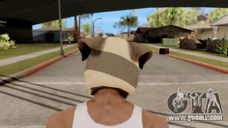 Mask Dog Pug for GTA San Andreas third screenshot