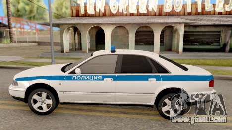 Audi A8 Russian Police for GTA San Andreas left view