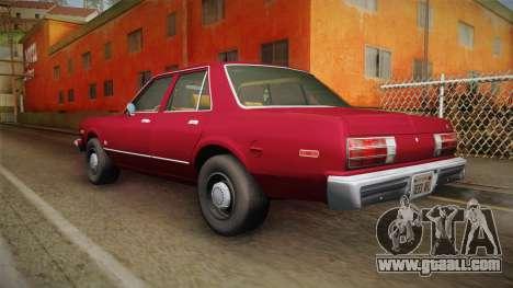 Dodge Aspen 1979 for GTA San Andreas left view