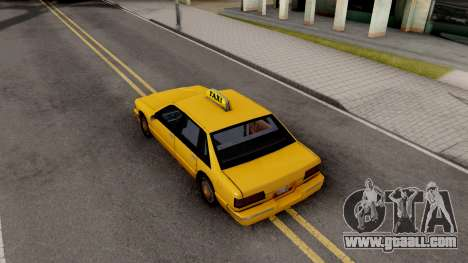 Taxi New Texture for GTA San Andreas back view