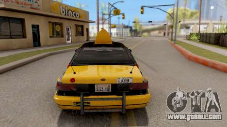 GTA IV Taxi for GTA San Andreas back left view