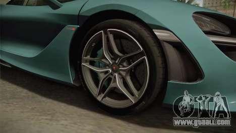 McLaren 720S 2017 for GTA San Andreas back view