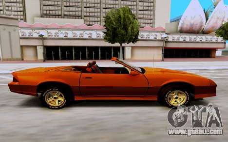 Chevrolet Camaro SS 1985 Cabriolet for GTA San Andreas right view